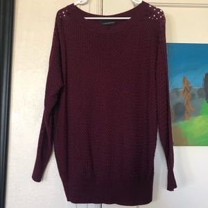 👗3 for $20👚: LB Wine Color Sheer Sweater